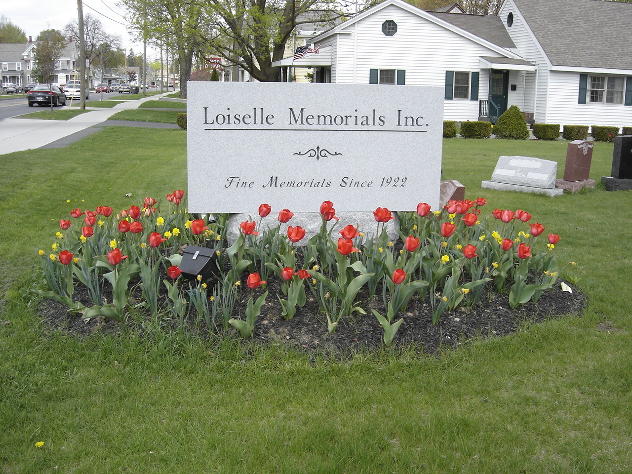 Image of a custom cemetery memorial monument headstone in the Glens Falls, NY area made by Loiselle Memorials in Hudson Falls, NY